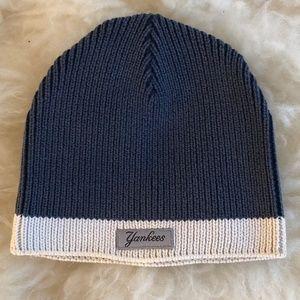 Blue & Cream Yankees Knit Beanie
